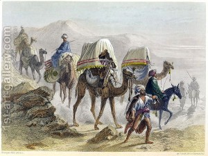 The-Camel-Train,-From-Constantinople-And-The-Black-Sea,-Engraved-By-The-Rouargue-Brothers,-1855
