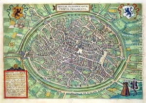 Town-Plan-Of-Bruges-From-Civitates-Orbis-Terrarum