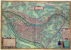 Map-Of-Lyon-From-Civitates-Orbis-Terrarum